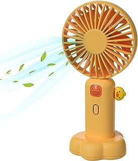 Handheld Mini battery Fan,Rechargeable Small Portable Person Fan,3 Types Wind Speed Adjustable USB Desk Fan for Women Girl...