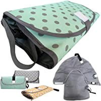 UMS 3-in-1 Diaper Clutch, Changing Station, Diaper-Time Playmat with Redirection Barrier