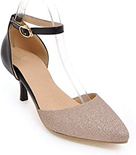 BalaMasa Womens ASL06840 Pu Heeled Sandals