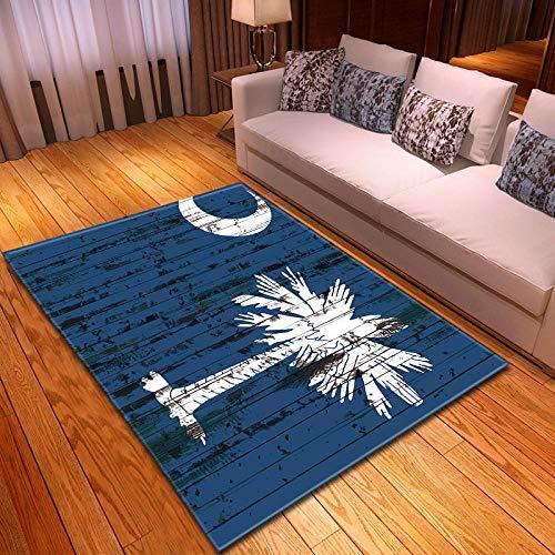 CMYKYUH Alfombra Salon Coco Azul 200 x 300 cm Alfombra De Salón...