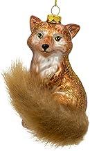 BestPysanky Wild Fox Glass Christmas Ornament