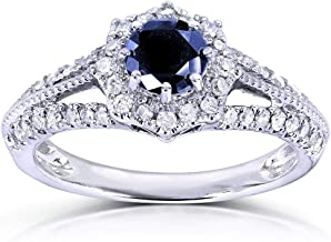 vintage white gold diamond engagement rings