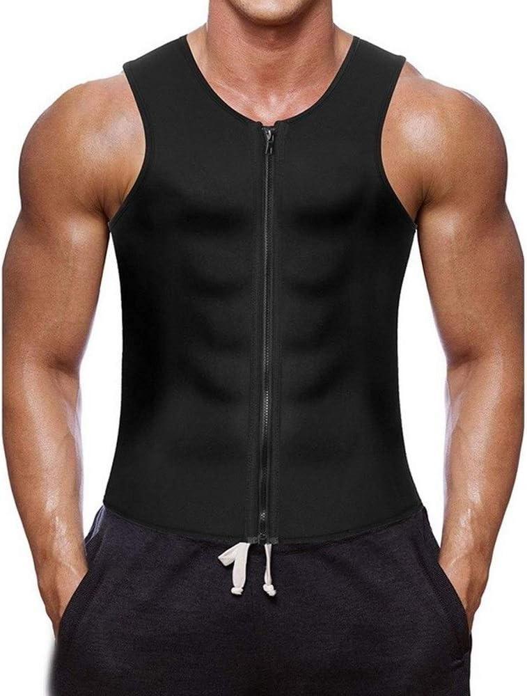 LUFEIAMZ Mens High material Shapewear Zipper Slim Vest Neopre Shaping Body trust Fit