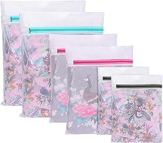 Paquet de 6 sacs à linge, sacs à linge Sac à linge pour la machine à laver Sac à linge en filet avec fermeture éclair pour...