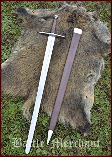 Battle-Merchant Langes Schwert mit Scheide, für Schaukampf, Sk-B Echt Metall Schaukampfschwert Erwachsene
