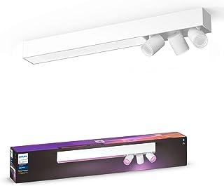 Philips Hue Centris Lámpara Inteligente LED blanca (3 focos + lámpara), con Bluetooth, Luz Blanca y Color, Compatible con Alexa y Google Home
