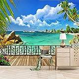 Papel Pintado Pared 200X150cm Balcón De Playa Minimalista Moderno Fotomural Mural Para Paredes Decorativo Comedores, Salones,Habitaciones