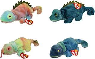 Ty Beanie Baby - Iggy the Iguana and Rainbow the Chameleon Collection