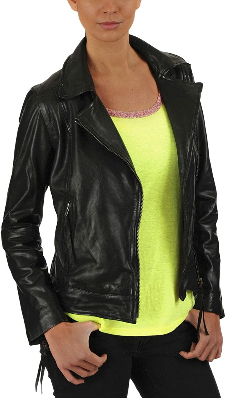 New Women Leather Jacket Soft Lambskin Motorcycle Bomber Party Jacket LTW169