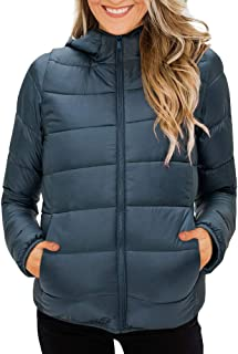 Yskkt Womens Down Jackets Hooded Packable Ultra Lightweight Short Puffer Coats Outerwear with Pockets
