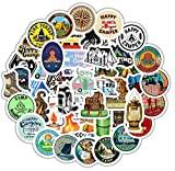 ZJJHX Go Camping Camping Vacation Outdoor Adventure Lovers Stickers Impermeable Maleta Moto Camión 50 Hojas