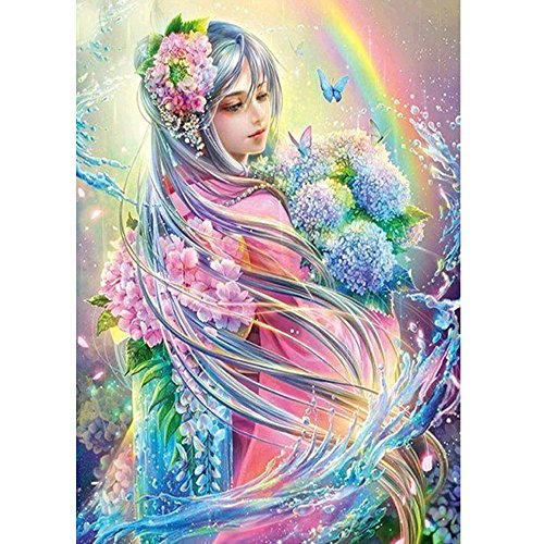 5D Diamond Painting Anime Young Girl Landscape DIY Diamond Painting Rhinestone Embroidery Cross Stitch Picture Arts Craft for Home Wall Decoration
