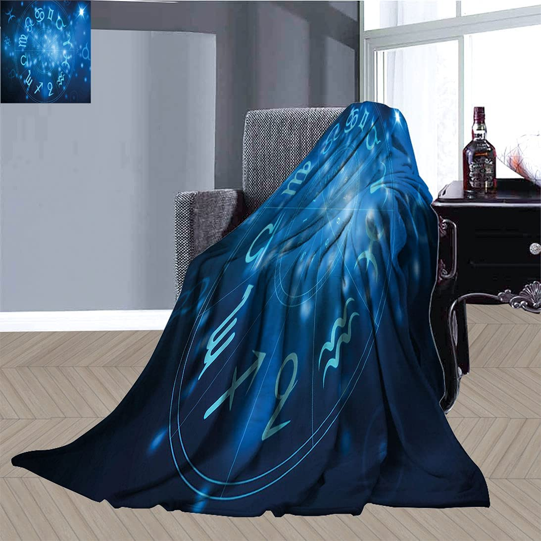 Astrology Super Soft Bed Blankets Max 54% OFF with Abstract Max 70% OFF Horoscope Wheel