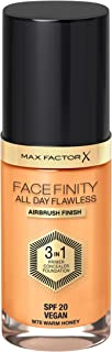 Max Factor Facefinity All Day Flawless, Liquid Foundation, 3 In 1, 078 Warm Honey, 30 ml