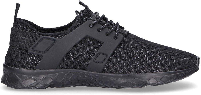 Hey Dude Men's MISTRALBLACK Black Fabric Sneakers