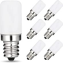 LOHAS LED C7 S6 Night Light Bulb, 15 Watt Light Bulbs Equivalent(1.5W), Mini LED Bulb Candelabra E12 Base, Soft/Warm White 3000K LED, Small Light for Bedroom Salt Lighthouse Lamp(6 PACK)