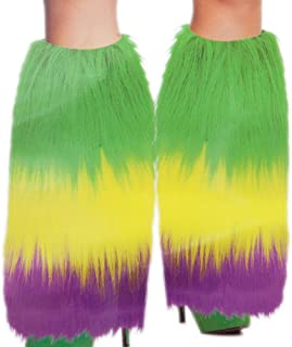 Rhode Island Novelty Mardi Gras Furry Leg Warmers