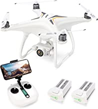 $299 » Drone with 1080P Camera with 2-Axis Self-stabilizing Gimbal 5G FPV Live Video and GPS Return Home, JJRC JJPRO X6 RC Quadcopter for Adults with Brushless Motor in 23+23 Mins Flight Time, Follow me