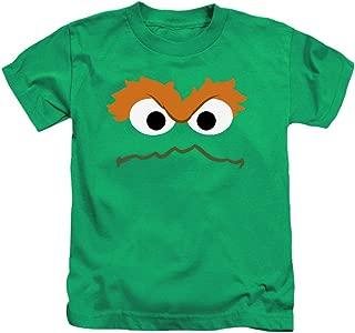 Juvenile Oscar The Grouch Face Sesame Street T Shirt