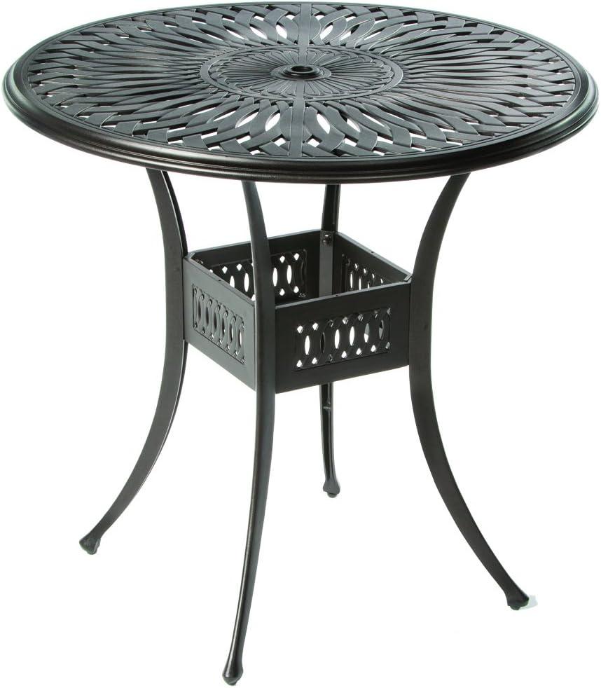 Alfresco Home 22-1057-AB Florentine Round Outdoor Bar Table, 42-Inch