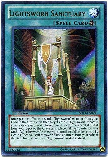 YU-GI-OH! - Lightsworn Sanctuary (SDLI-EN024) - Structure Deck: Realm of Light - 1st Edition - Ultra Rare