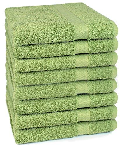 Betz 8 Stück Handtücher Set Größe 50 x 100 cm Handtuch Premium 100{48268f6da1591b614f9c3ac0390b1c063cc2a01c42fd8cd6053735a4c951120a} Baumwolle Farbe apfelgrün