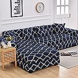 ASCV Funda de sofá elástica geométrica de algodón Que Necesita Orden Fundas de 2 Piezas para la Funda de sofá seccional de Esquina en Forma de L para Sala de Estar A4 4 plazas