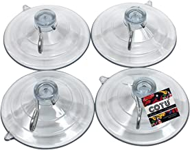 COTU (R) 4 Pack Large Strong Suction Cup Hooks 2 1/2 inch - Made in USA (Holds up to 8 lbs per Suction Cup)