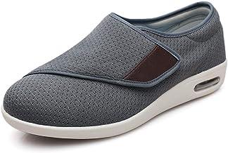 Verstelbare Oedeem Schoenen Dames Extra Breed,Meststof toevoegen om gezwollen voeten schoenen te verbreden, rubberen ronde...