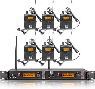 Xtuga RW2080 - Sistema de monitoreo In-Ear (2 canales, corporal 2/4/6/8/10, monitoreo con audífonos inalámbricos SR2050), ...