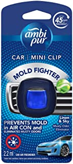 Ambi Pur Car Mini Clip Linen & Sky Car Air Freshener, 2.2ml