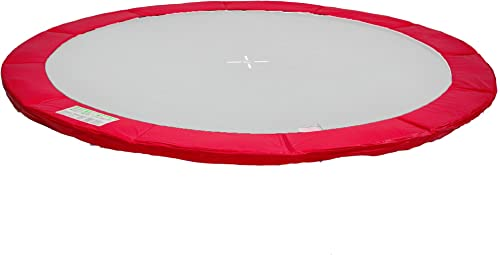 P370R Home Systeme - Coussin de prougeection ressorts trampoline 370cm - Rouge