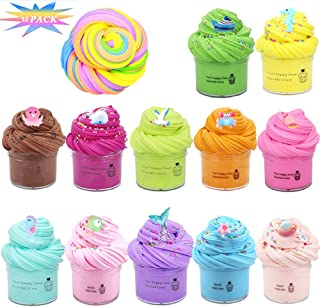 AioTio 12PCS Slime Kit Mud Puff Glue Toy, Stress Relief Fidget Toy,for Children and Family (Ocean)