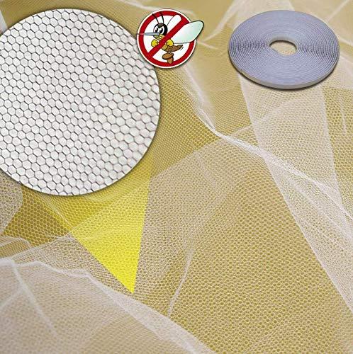 10er Packung Fliegengitter - 130x150cm - Weiß - Fliegennetz - Insektenschutz - inkl. Klettband - Spurlos ablösbar