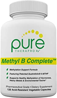 Methyl B Complete - 120 Vegetable Capsules | Optimal Methylation Support Supplement with Quatrefolic 5-MTHF (Active folate...