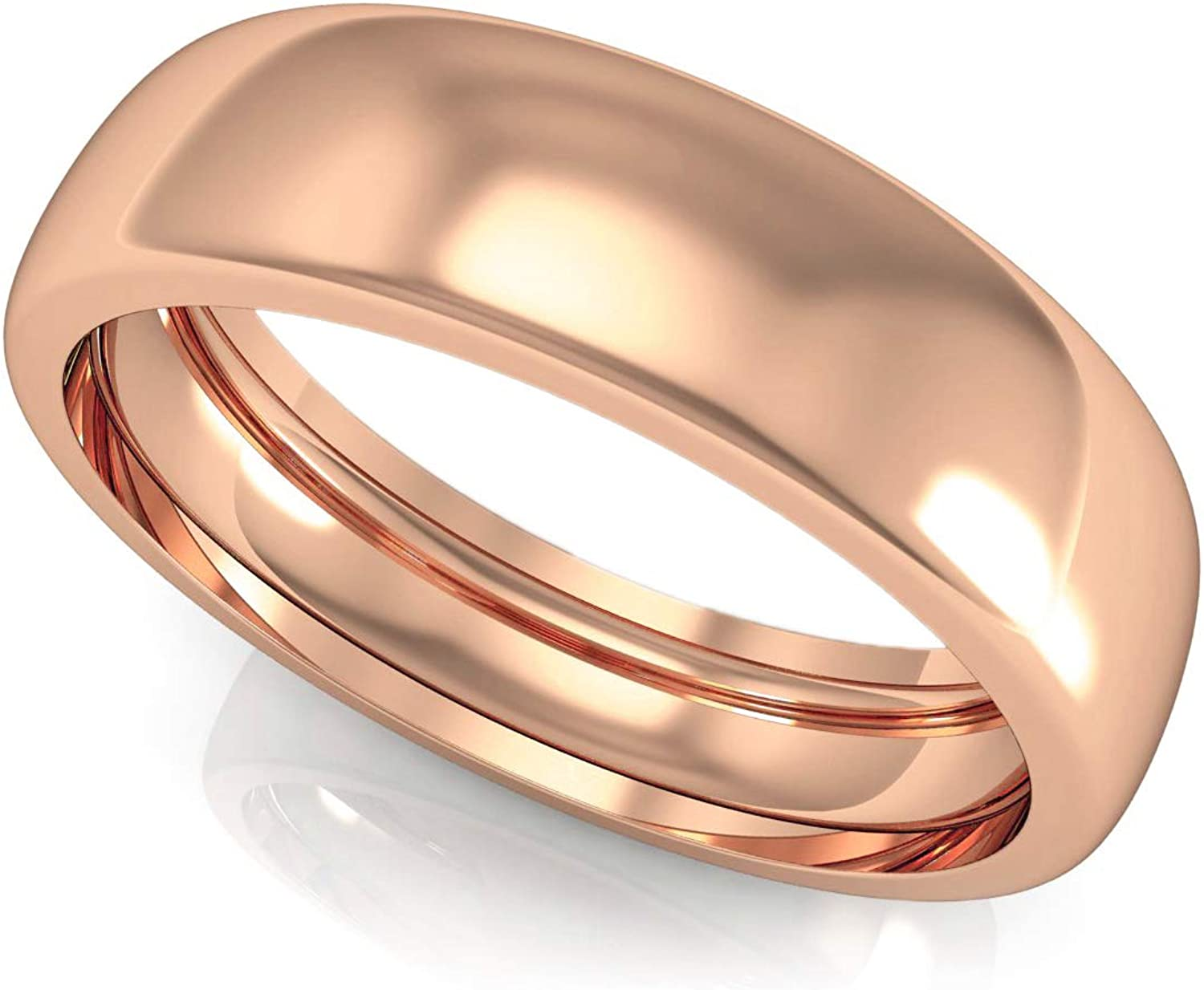 ASHNE JEWELS IGI Certified, Designer Wedding Engagement Band Ring Made in 14K Solid Rose Gold Precious Fine Jewelry For Men