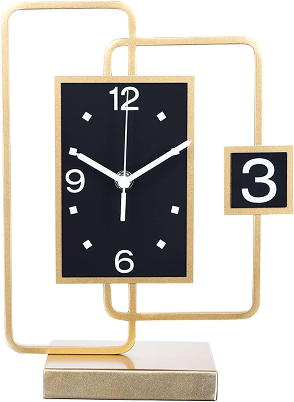 liangzishop Reloj de Mesa Relojes de Mesa para Sala de Estar Decoración Luz de Lujo Desktop Clocks Home Desktop Pendulum Relojes Modern Relojes Reloj Sobremesa (Size : Large)