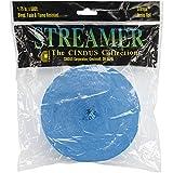 Cindus Papier crêpe Streamers 4,4cm X 500'-Turquoise