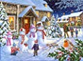 1000 Piece Jigsaw Puzzle - Snowman Family - From The Panmure Collection -