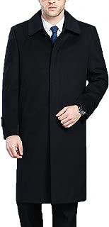Men's Classical France Style Single Breasted Wool Coat Windbreaker #00153
