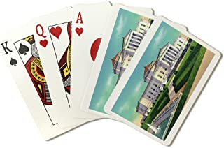 Chicago, Illinois - Exterior View of The John G. Shedd Memorial Aquarium (Playing Card Deck - 52 Card Poker Size with Jokers)