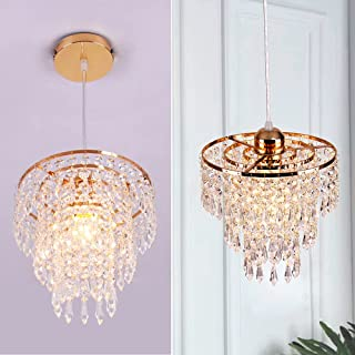 Kristallen Kroonluchter Licht Schaduw Moderne Hanger Verlichting Armatuur 3 Tiers Crystal Raindrop Plafondlamp Decoratie v...