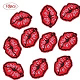 inherited 10 piezas Parches Ropa(Forma del labio), Patch Sticker, Parche bordado...