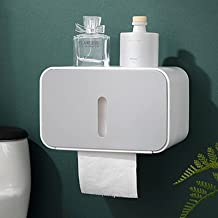 Toiletrolhouder, Wandmontage, Waterdichte Lade Rolbuis Gemaakt van Verdikte ABS Materiaal voor Badkamer Papieren Handdoekh...