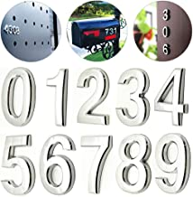 10 Pcs Door Numbers 0-9, Address Number Stickers for Mailbox / Apartment, Silver Shining, Upgrade Model, 2.75 inch High (2.75
