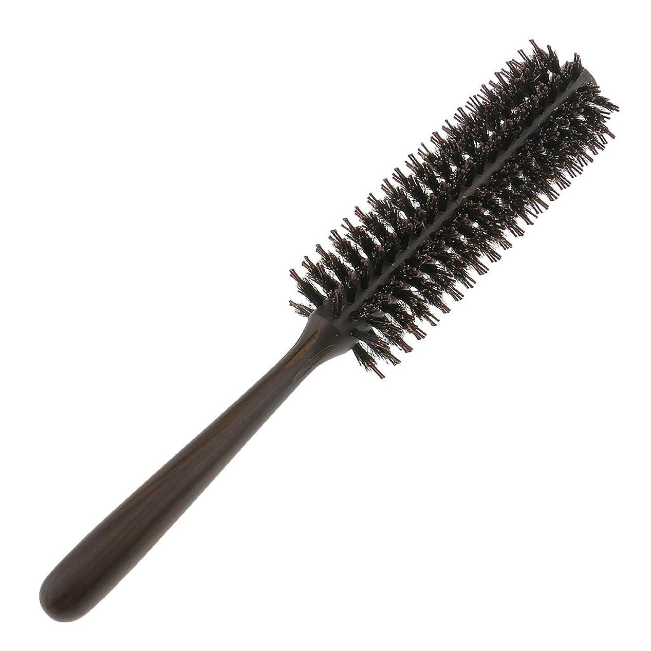 倫理的切り離す傾向がありますヘアコーム ロールブラシ 耐熱 ブロー カール 巻き髪 ヘアブラシ ロール 頭マッサージ 櫛 くし