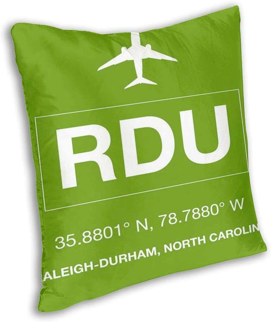 International Airport Raleigh Durham North Carolina Pillowslip Unique Throw Pillow Cover Creative Cushions Case Covers With Zipper Home Decorative Print Pillowcase For Sofa Couch Home Kitchen