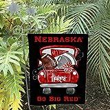 IZI POD Nebraska Huskers, Nebraska Flag, Nebraska Garden Flag, Football, Football Flag, Nebraska, Vintage Truck, Home Decor, Husker Gift, Sports