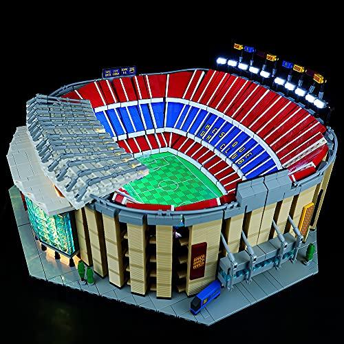 HYQX Kit de luces LED para Lego 10284 Camp Nou FC Barcelona, juego de iluminación de luces compatible con Lego 10284 (juego de luces LED solamente, sin kit de lego)