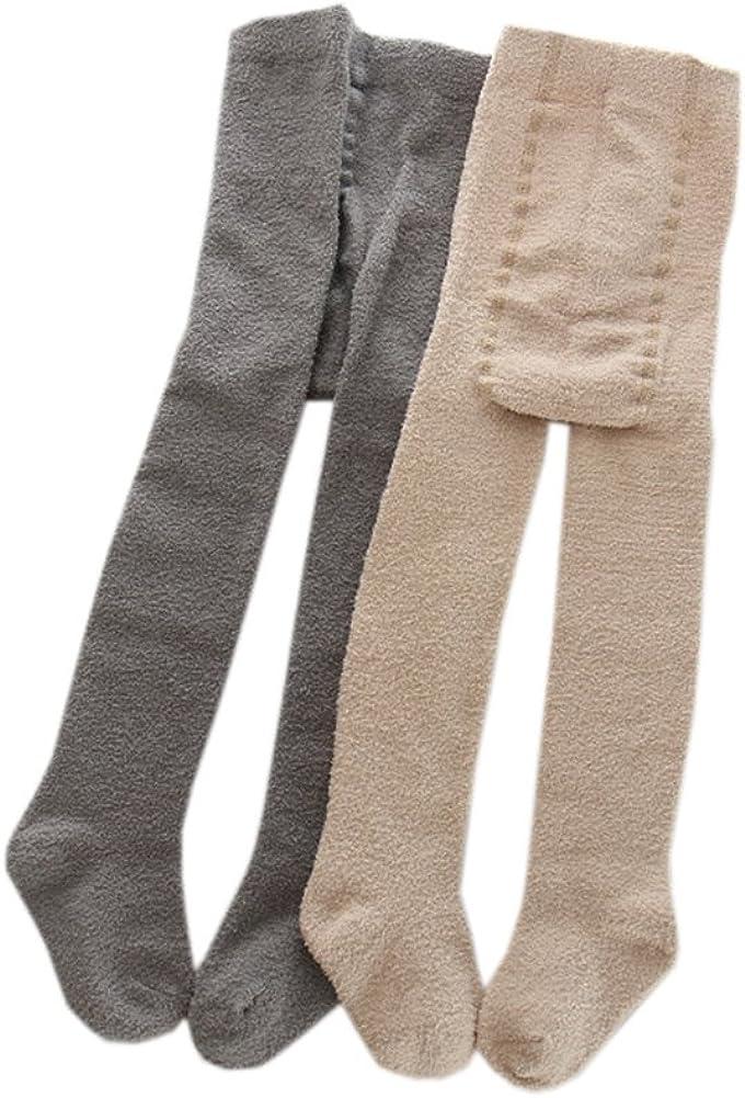 Baby Girls Boys Winter Fleece Tights 5-Pack Thicken Warm Legging Pants 0-6T Stocking Pantyhose